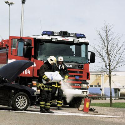 Räddningstjänst som använder absol.
